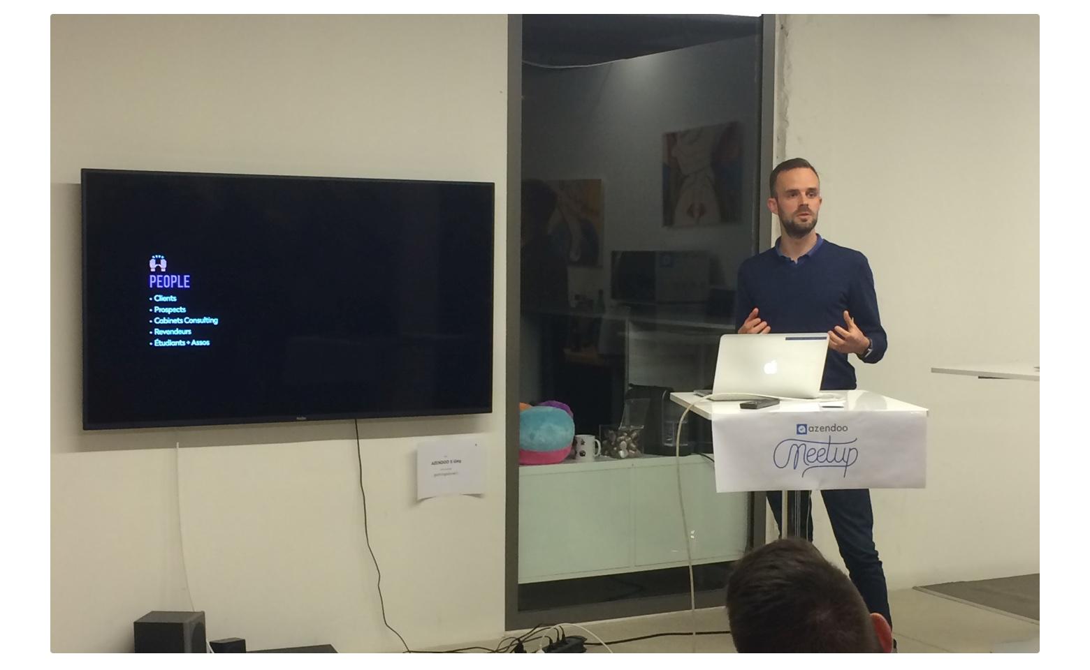 Ensuite, Byron Dunne, notre Business Developer a exposé les stratégies et notre business model.