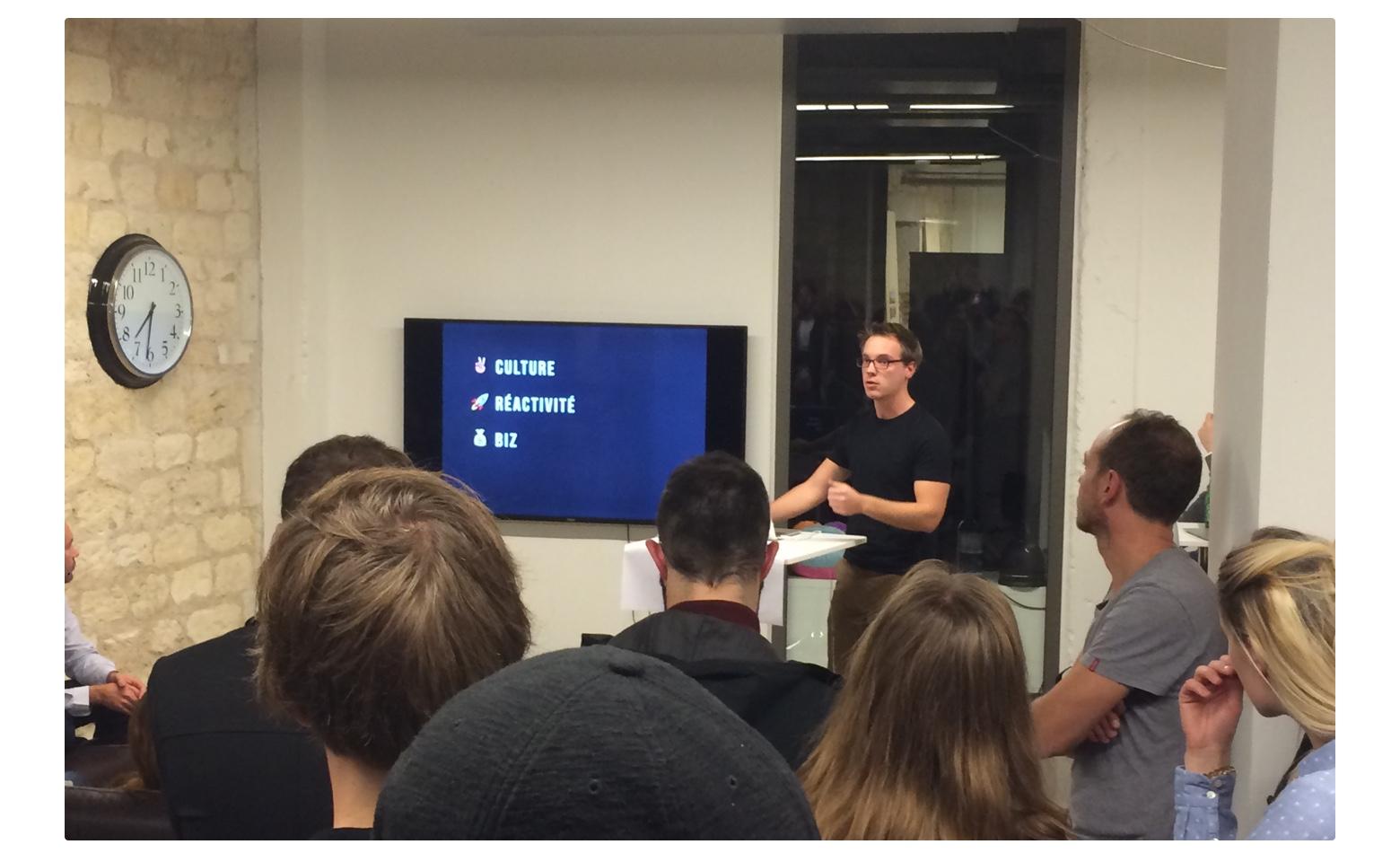 Luc Chaissac, notre lead designer a présenté ce à quoi le travail de l'équipe Design consiste au sein d'Azendoo.